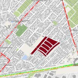 Karte mit dem Baugebiet in Mahlsdorf-Nord.