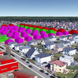 Visualisierung Baufeld Bisamstraße