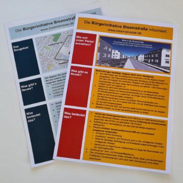 Neue Flyer zum Bauvorhaben in der Bisamstraße